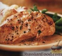 Фото к рецепту: Куриные грудки под соусом с хересным уксусом