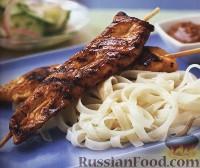Фото к рецепту: Жареная курица с арахисовым соусом