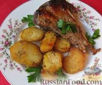 Фото к рецепту: Голень индейки, запеченная в фольге