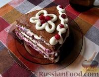 Фото к рецепту: Шоколадный торт с клюквой