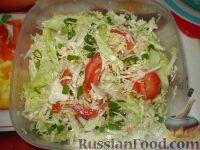 Фото к рецепту: Салат из свежей капусты