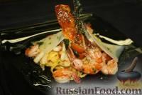 Фото к рецепту: Домашняя паста с креветками