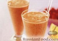 Фото к рецепту: Малиново-апельсиновый смузи