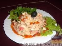 Фото приготовления рецепта: Салат с красной икрой - шаг №2