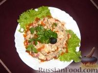 Фото приготовления рецепта: Салат с красной икрой - шаг №3