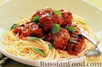 Фото к рецепту: Сырные тефтельки со спагетти