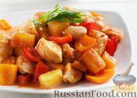 Фото к рецепту: Курица в кисло-сладком соусе