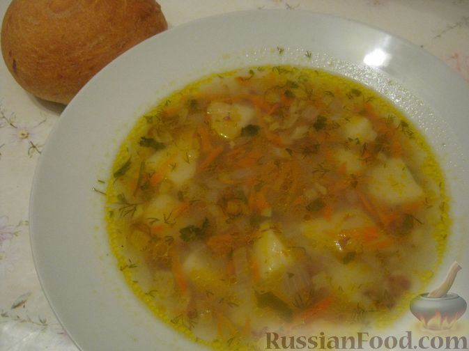 рецепт суп картофельный с геркулесом