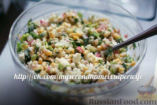 """Рецепт Крабовый салат """"Лайт"""""""