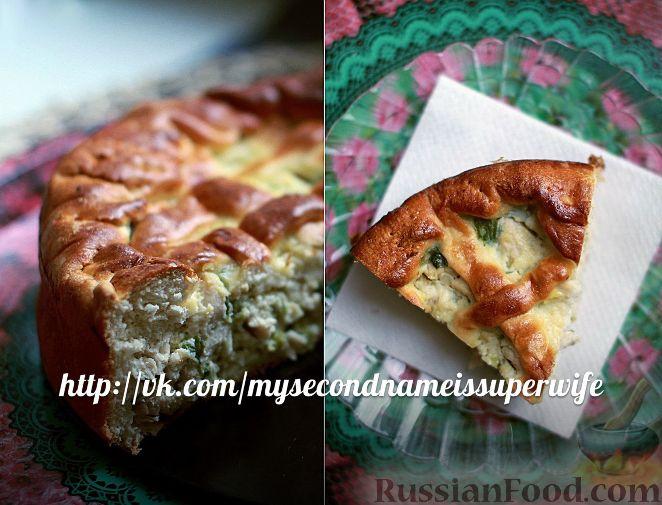 Рецепт Пирог с курицей, яйцом и зеленым луком
