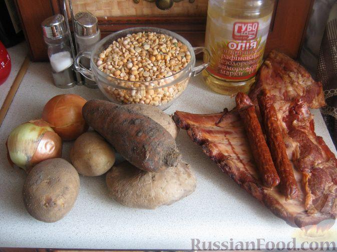 рецепт горохового супа с копченостями поваренок