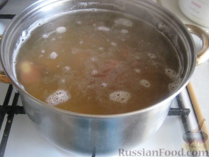 рецепт горохового супа на копченых костях