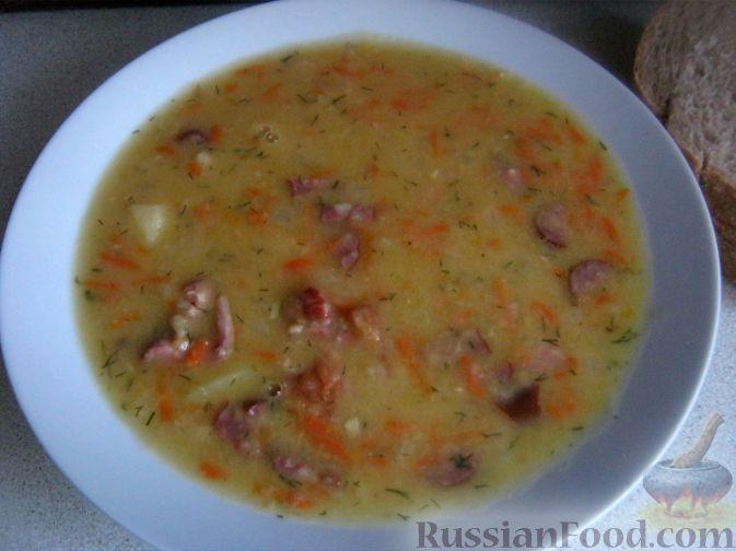 Фото приготовления рецепта: Суп гороховый с копченостями - шаг №11
