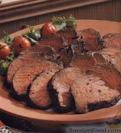 Рецепт Говяжье филе, жаренное на гриле