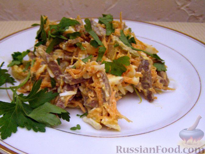 кальмары с сердцем салат рецепт