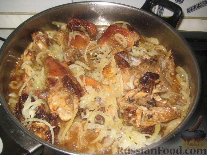 Второе блюдо из картошки с фаршем и сыром