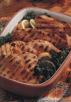 Рецепт Куриное филе в цитрусовом маринаде, приготовленное на гриле