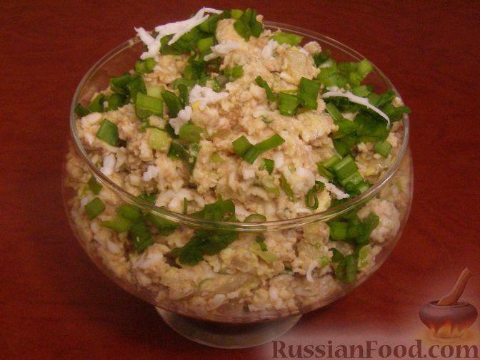 Рецепт Салат из печени трески (минтая) с яйцами