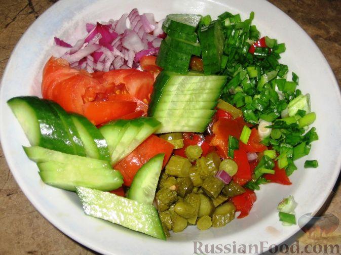 огурцы помидор салат пошаговый рецепт