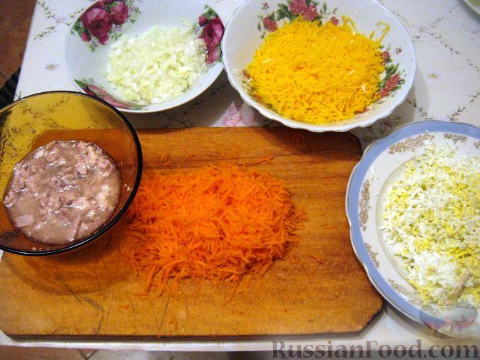 рецепты салатов на день рождения с печенью