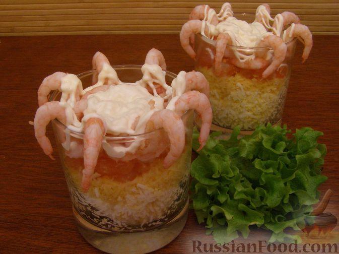 Рецепт Салат с креветками 1