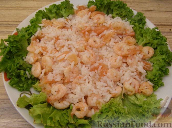 Салат с семгой и креветками рецепт