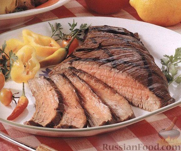 Рецепт Говяжий стейк, приготовленный на гриле