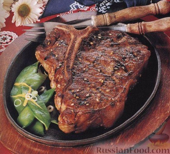Рецепт Говяжий стейк с кунжутом