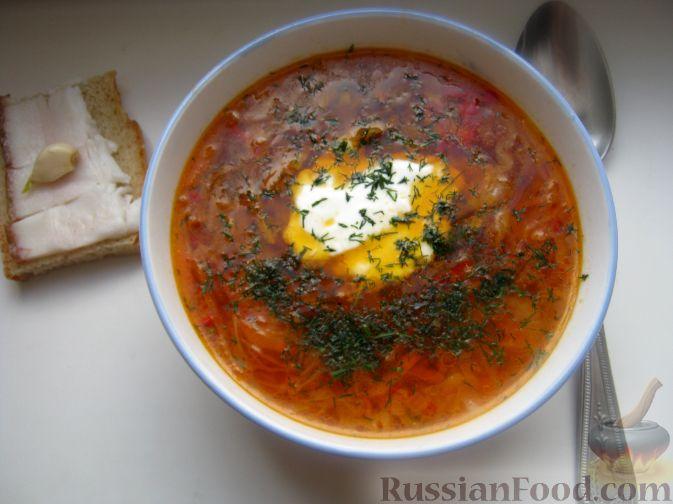 Рецепт Борщ русский