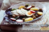 Фото к рецепту: Зеленый салат с курицей