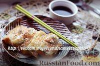 Фото к рецепту: Спринг-роллы с форелью и цуккини