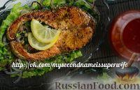 Фото к рецепту: Форель с зеленым салатом