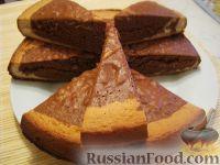 Фото к рецепту: Мраморный бисквит