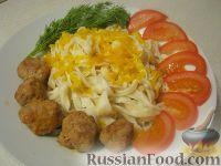 Фото к рецепту: Лапша с мясными шариками