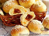 Фото к рецепту: Булочки с карамелью - домашняя выпечка