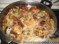 """Фото приготовления рецепта: Армянское блюдо """"Хохо"""" (гусь тушеный с гранатом) - шаг №5"""