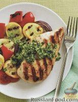 Фото к рецепту: Куриное филе и овощи, жаренные на гриле