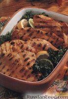 Фото к рецепту: Куриное филе в цитрусовом маринаде, приготовленное на гриле