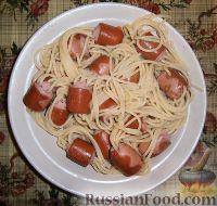 "Фото к рецепту: Сосиски ""на спагетти"""