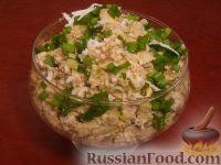 Фото к рецепту: Салат из печени трески (минтая) с яйцами
