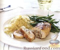 Фото к рецепту: Куриное филе, фаршированное миндальной начинкой