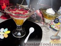 Фото к рецепту: Желе молочно-тыквенно-крыжовниковое