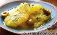 Фото к рецепту: Салат из апельсинов и оливок