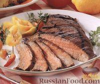 Фото к рецепту: Говяжий стейк, приготовленный на гриле