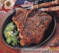 Фото к рецепту: Говяжий стейк с кунжутом