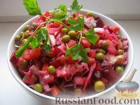 Фото к рецепту: Винегрет с кислой капустой