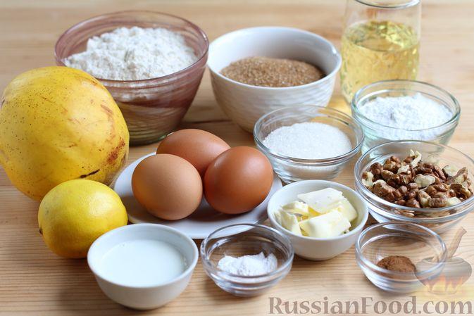 Фото приготовления рецепта: Кекс с айвой и орехами - шаг №1