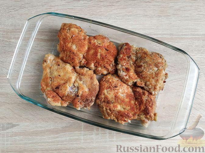 Фото приготовления рецепта: Куриная печень с грибами и помидорами, в микроволновке - шаг №15