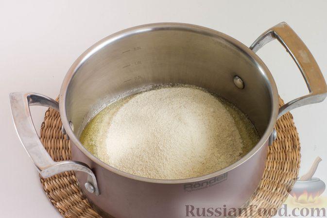 Фото приготовления рецепта: Мандариновая халва из манки - шаг №5