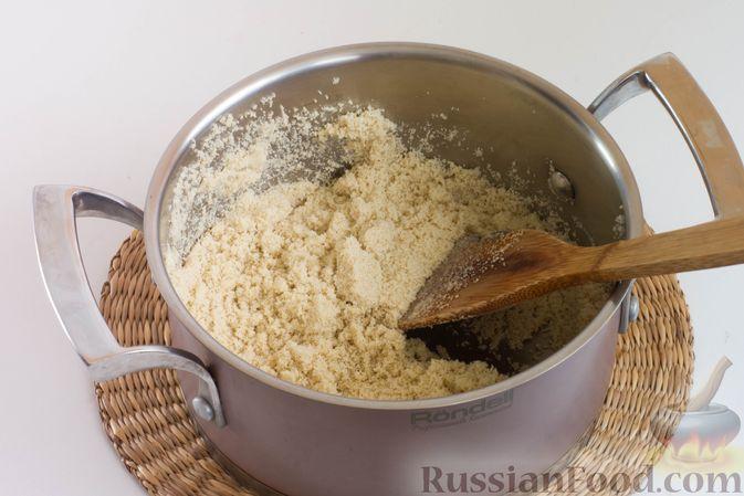 Фото приготовления рецепта: Мандариновая халва из манки - шаг №6